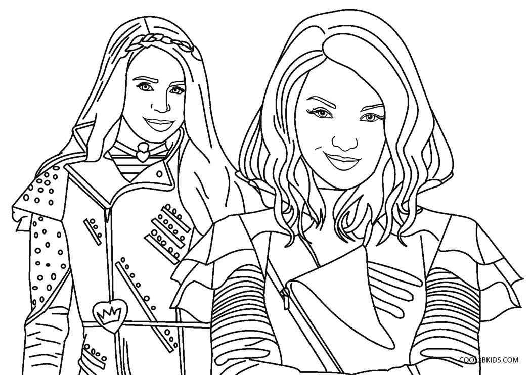 Dibujos de Descendientes para colorear - Páginas para ...