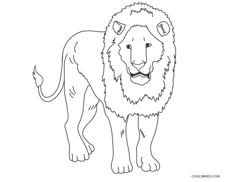 ausmalbilder löwe  malvorlagen kostenlos zum ausdrucken