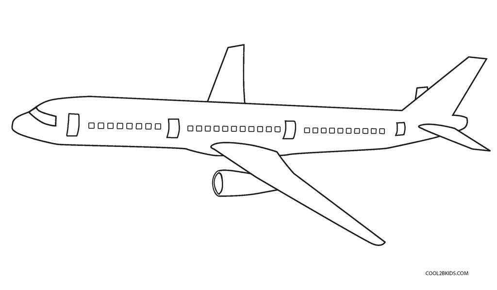 ausmalbilder flugzeug - malvorlagen kostenlos zum ausdrucken