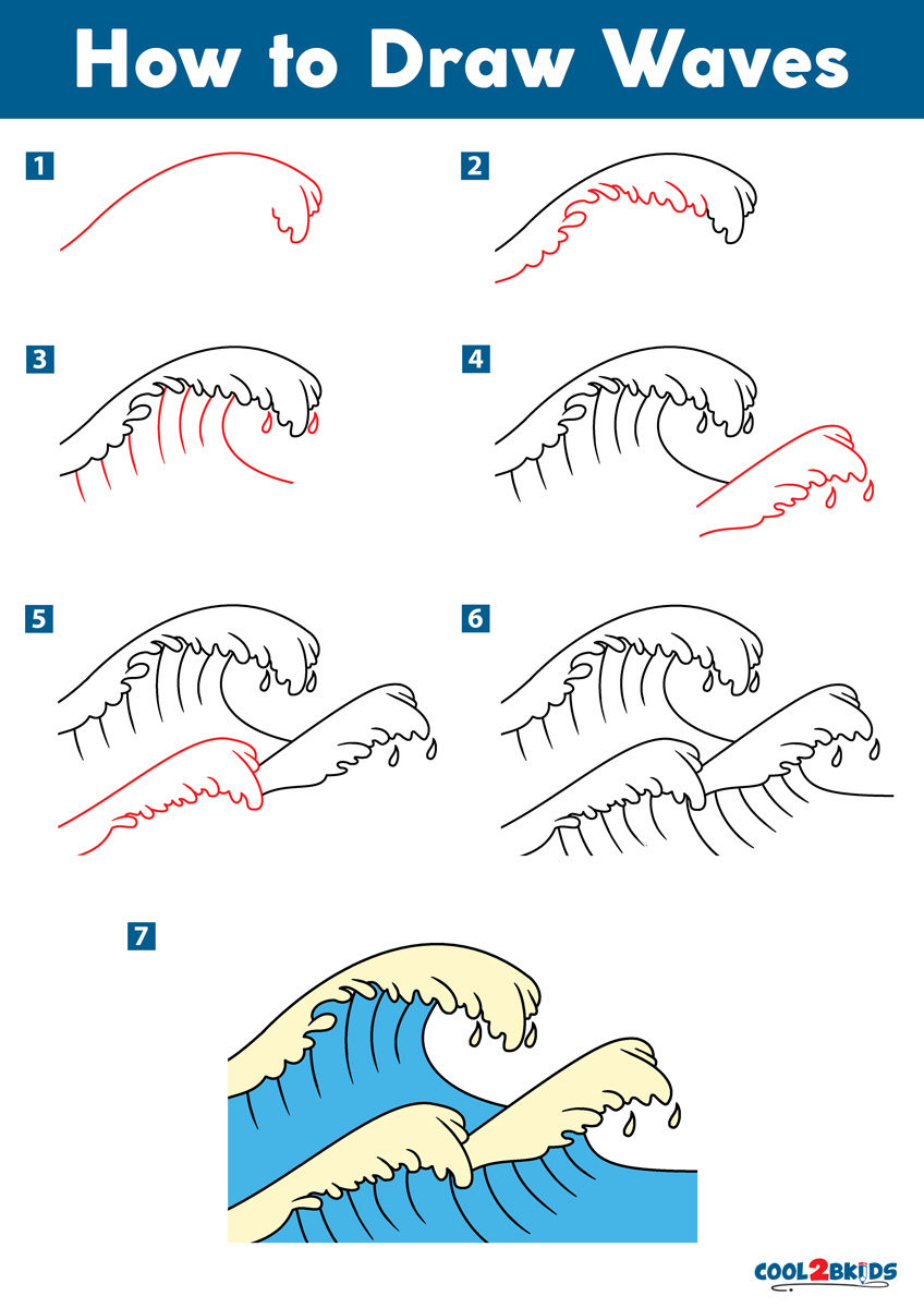 How to Draw Waves Step by Step