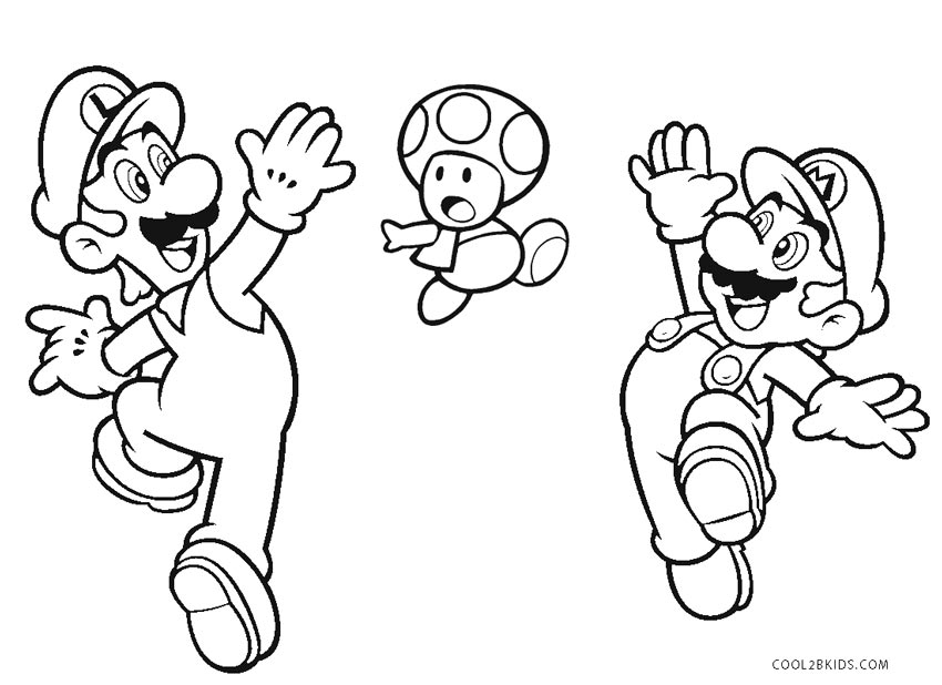 Ausmalbilder Super Mario Bros Malvorlagen Kostenlos Zum Ausdrucken