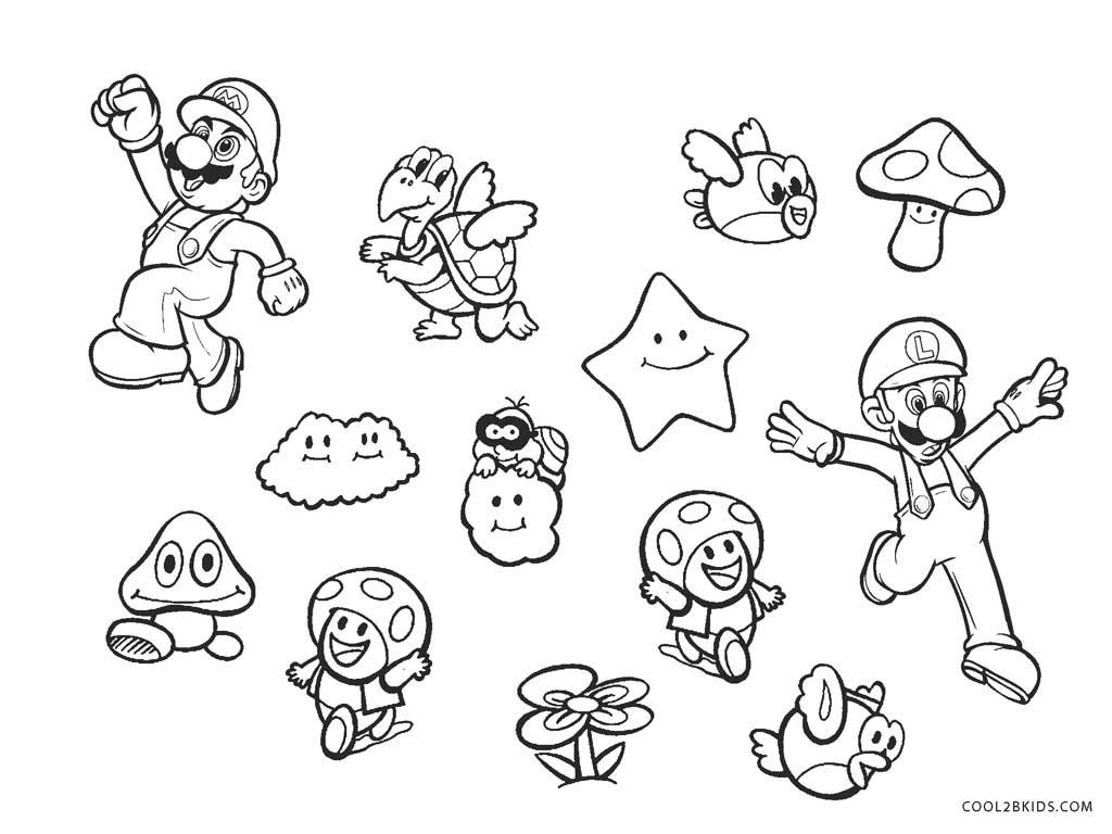 Ausmalbilder Super Mario Bros - Malvorlagen kostenlos zum ausdrucken
