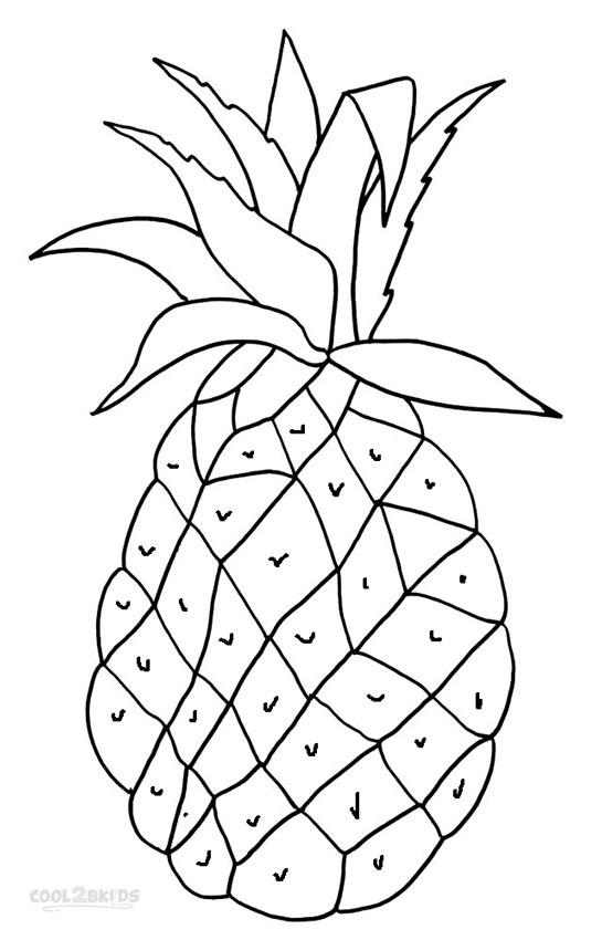 ausmalbilder ananas  malvorlagen kostenlos zum ausdrucken