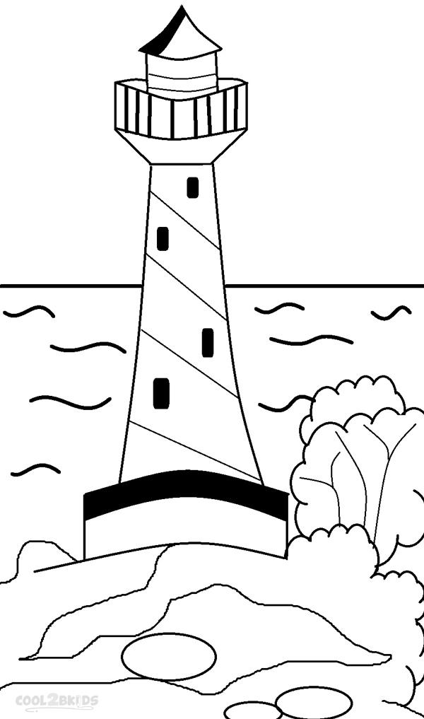 ausmalbilder leuchtturm - malvorlagen kostenlos zum ausdrucken
