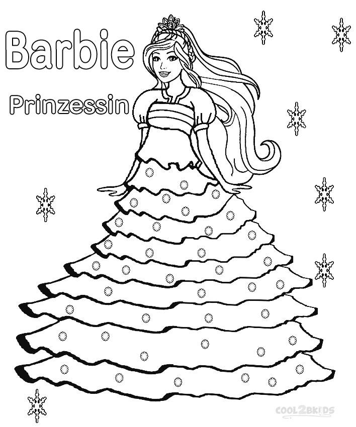 ausmalbilder barbie prinzessin  malvorlagen kostenlos zum