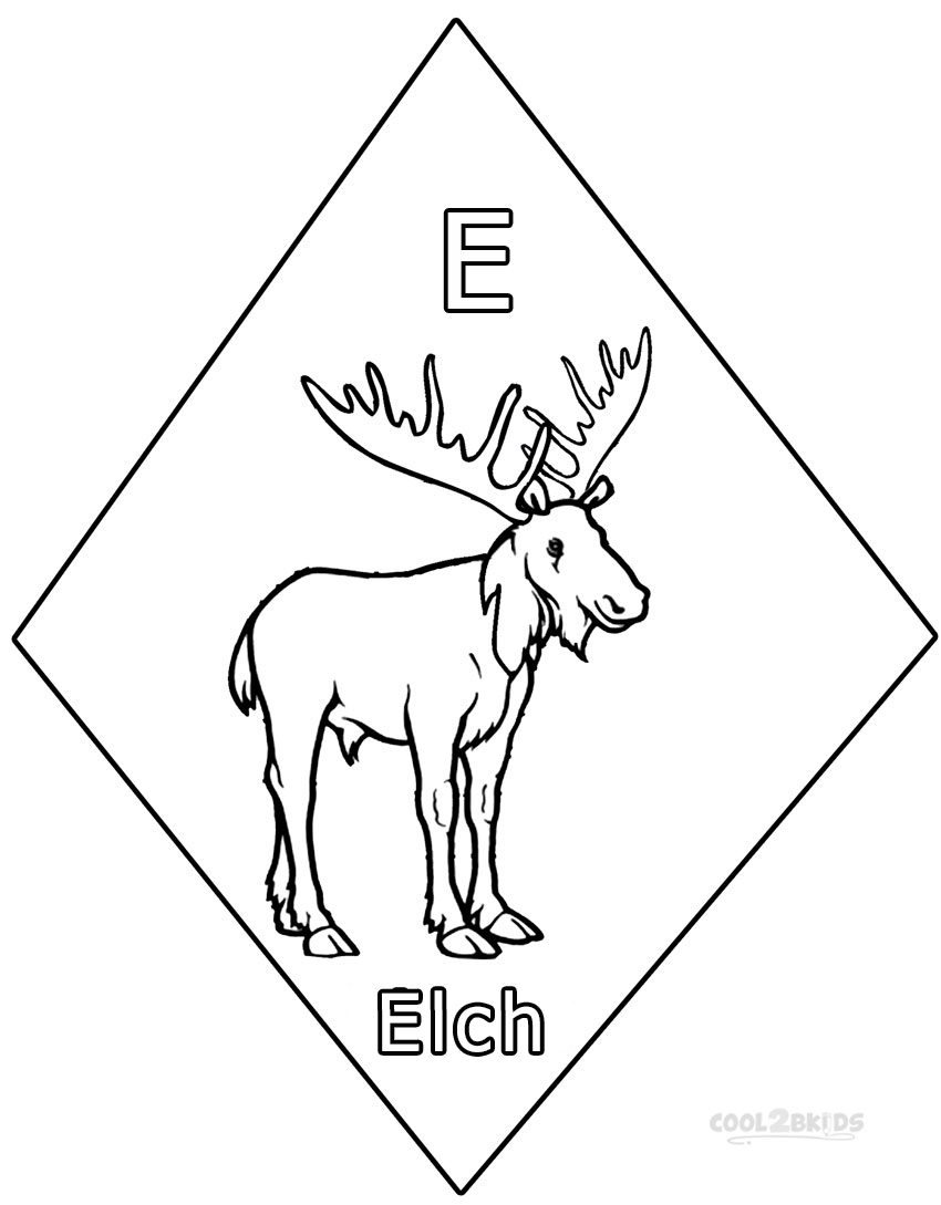 Ausmalbilder Elch - Malvorlagen kostenlos zum ausdrucken