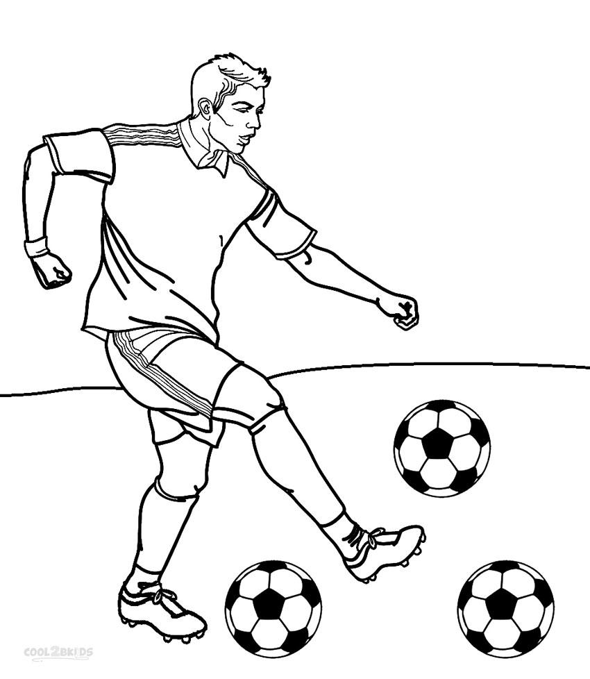 ausmalbilder fußballspieler  malvorlagen kostenlos zum
