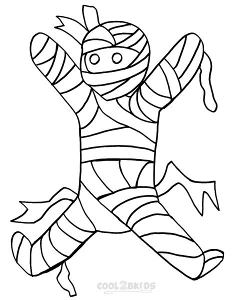 ausmalbilder mumie  malvorlagen kostenlos zum ausdrucken