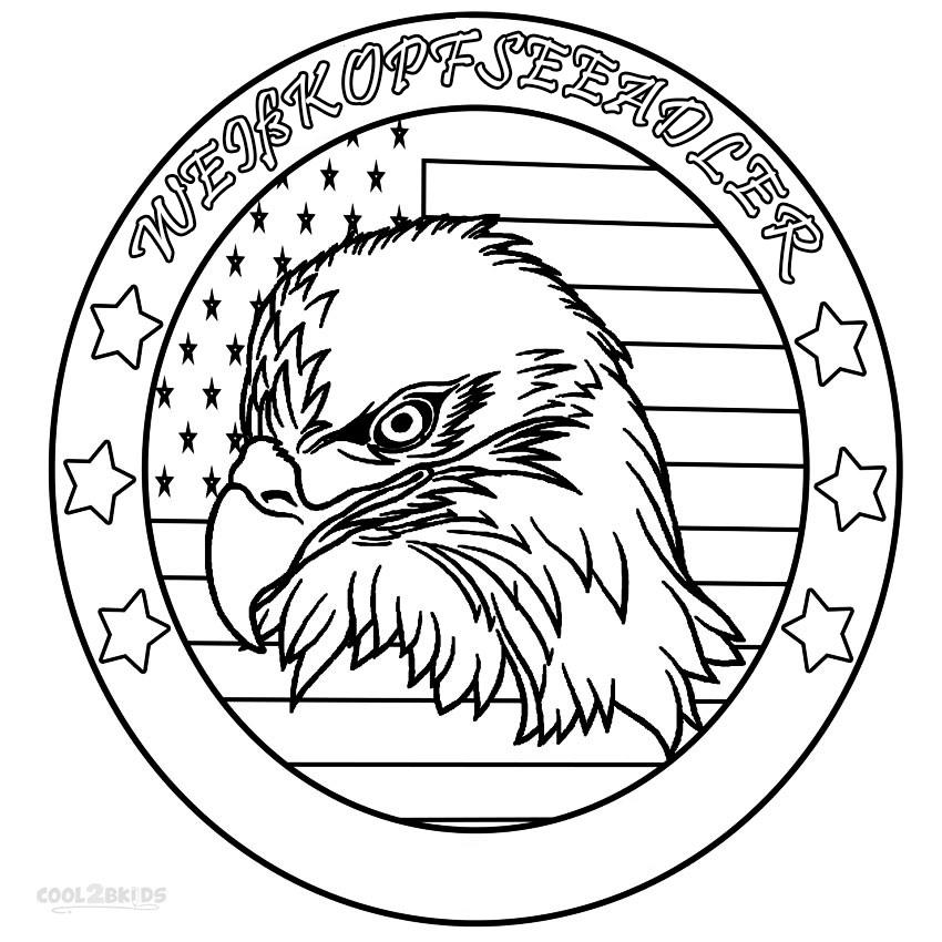 ausmalbilder weißkopfseeadler  malvorlagen kostenlos zum
