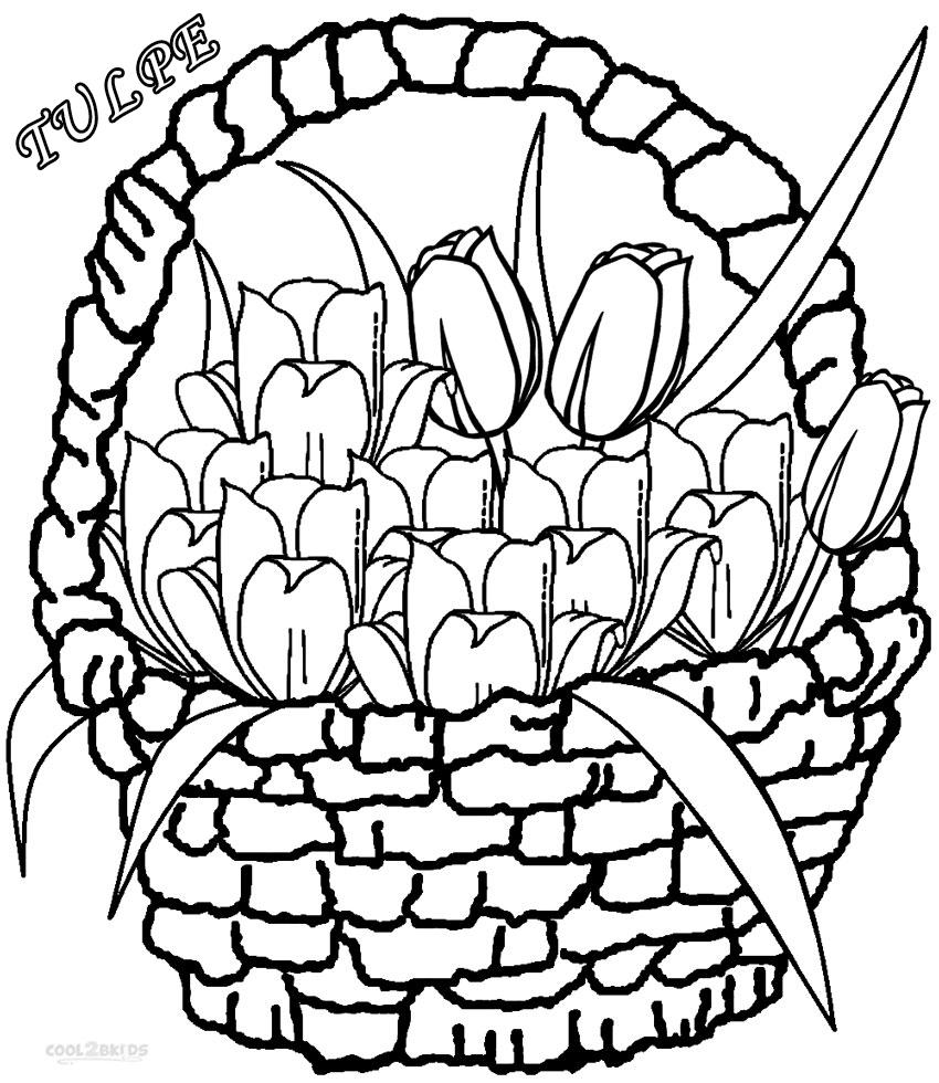 ausmalbilder tulpe  malvorlagen kostenlos zum ausdrucken