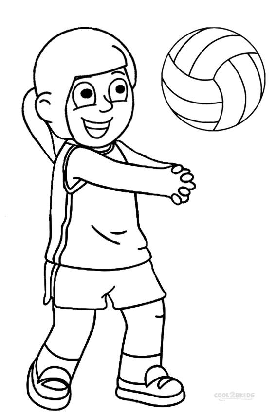 ausmalbilder volleyball  malvorlagen kostenlos zum ausdrucken