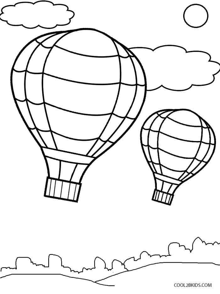 ausmalbilder heißluftballon  malvorlagen kostenlos zum
