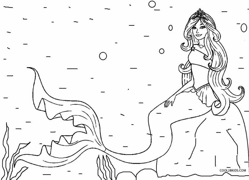 ausmalbilder meerjungfrau  malvorlagen kostenlos zum