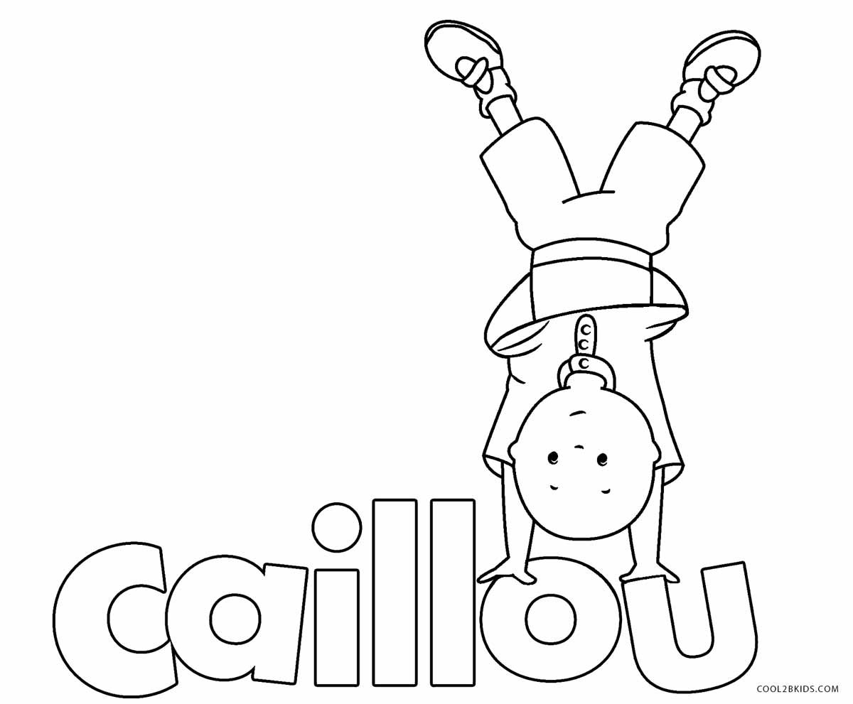 Ausmalbilder Caillou - Malvorlagen kostenlos zum ausdrucken