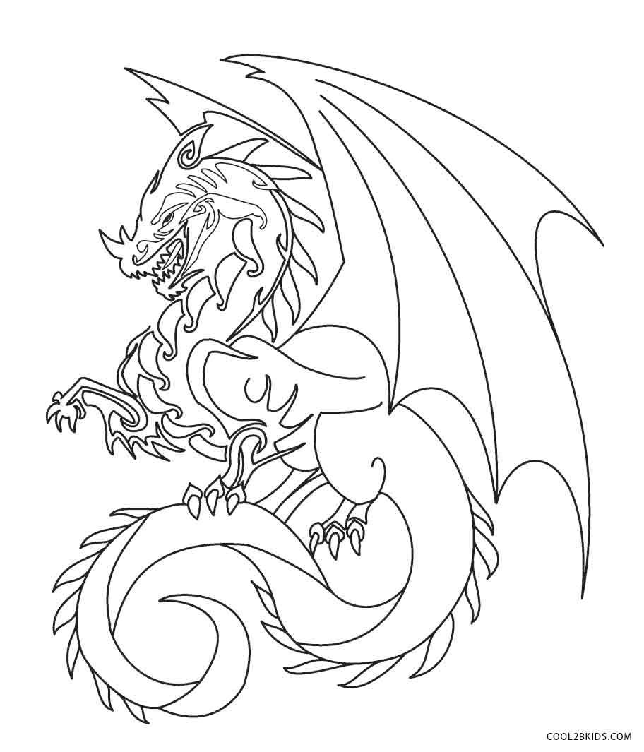 Ausmalbilder Drachen - Malvorlagen kostenlos zum ausdrucken
