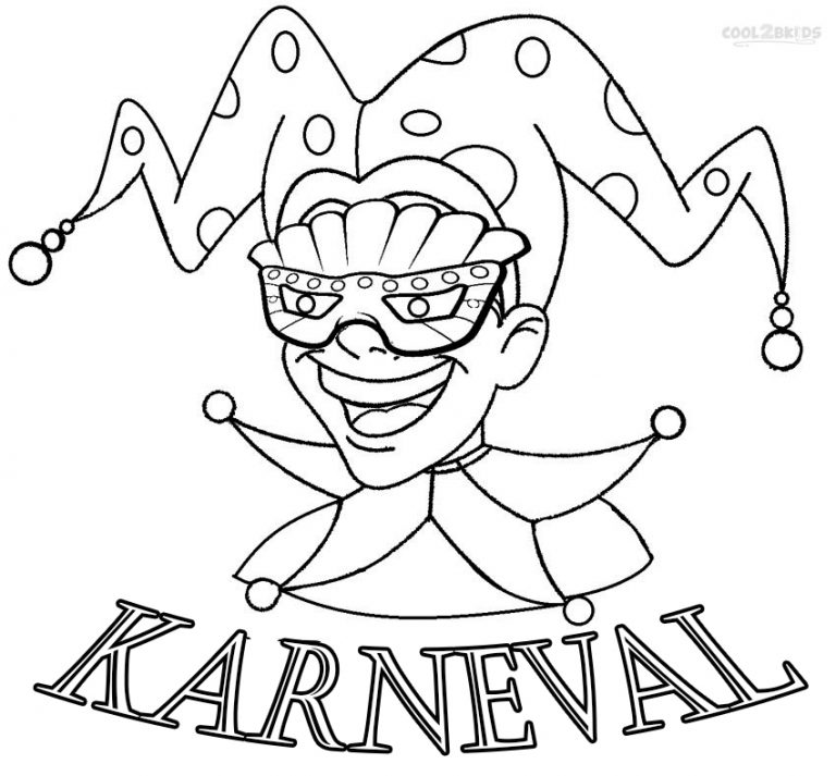 ausmalbilder karneval  malvorlagen kostenlos zum ausdrucken