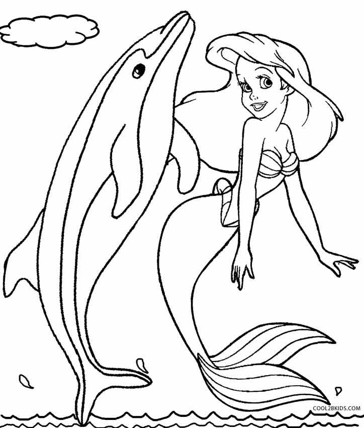 Ausmalbilder Meerjungfrau Malvorlagen Kostenlos Zum Ausdrucken