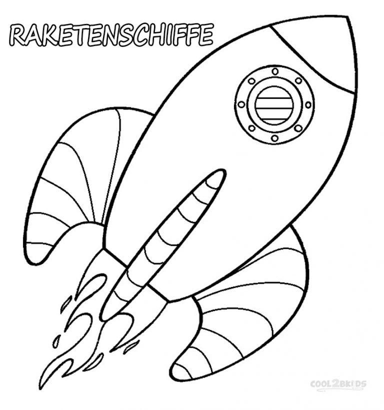 ausmalbilder raketenschiffe  malvorlagen kostenlos zum