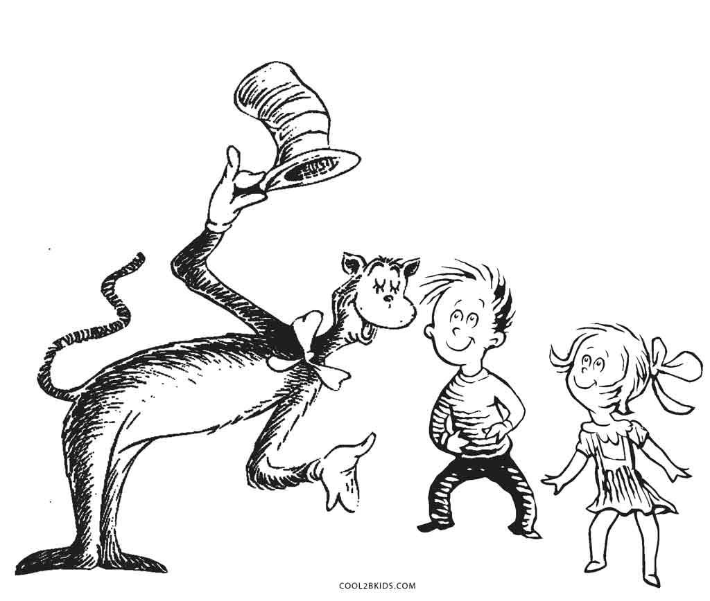 Ausmalbilder Dr. Seuss - Malvorlagen kostenlos zum ausdrucken