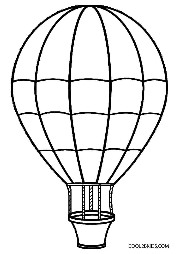 Ausmalbilder Heißluftballon - Malvorlagen kostenlos zum ausdrucken