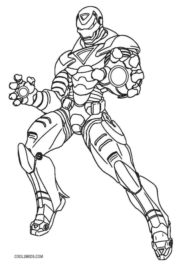 Ausmalbilder Iron Man - Malvorlagen kostenlos zum ausdrucken
