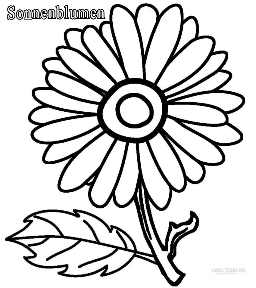 Ausmalbilder Sonnenblumen - Malvorlagen kostenlos zum ausdrucken