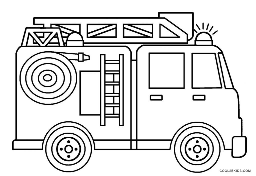ausmalbilder feuerwehrauto  malvorlagen kostenlos zum
