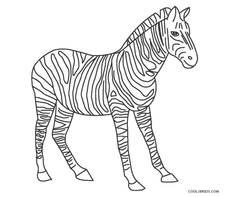 ausmalbilder zebra  malvorlagen kostenlos zum ausdrucken
