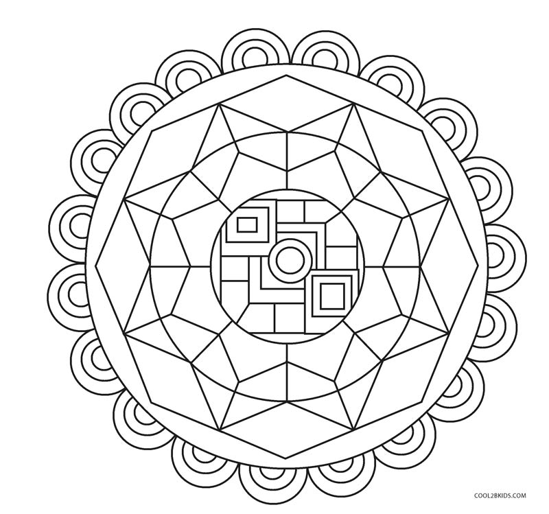 ausmalbilder geometrische  malvorlagen kostenlos zum