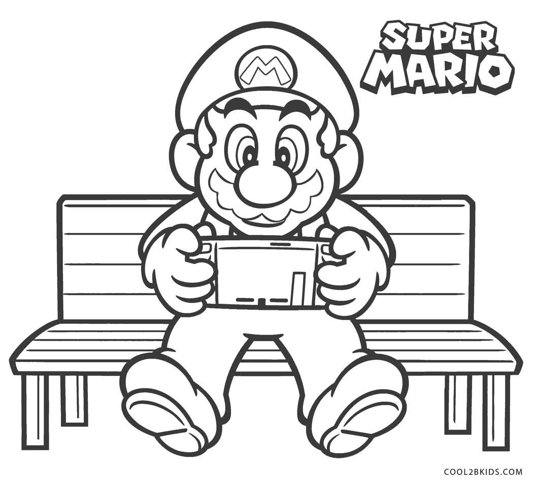 Ausmalbilder Mario - Malvorlagen kostenlos zum ausdrucken