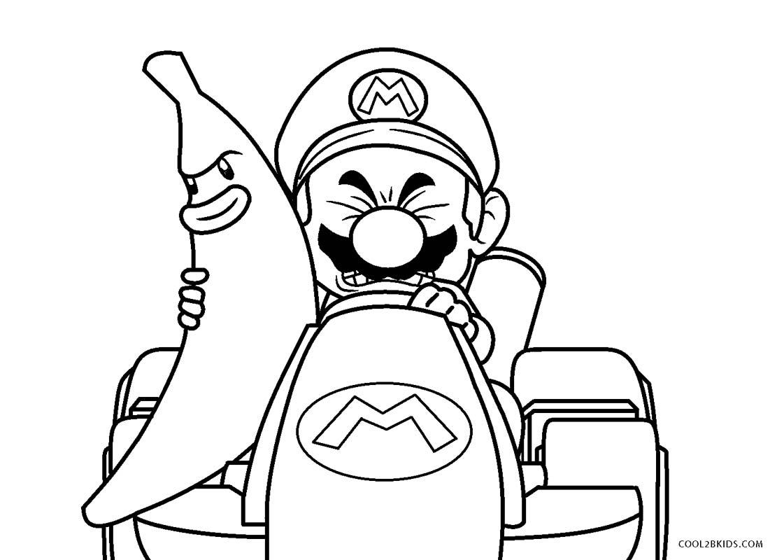 Ausmalbilder Mario Kart - Malvorlagen kostenlos zum ausdrucken