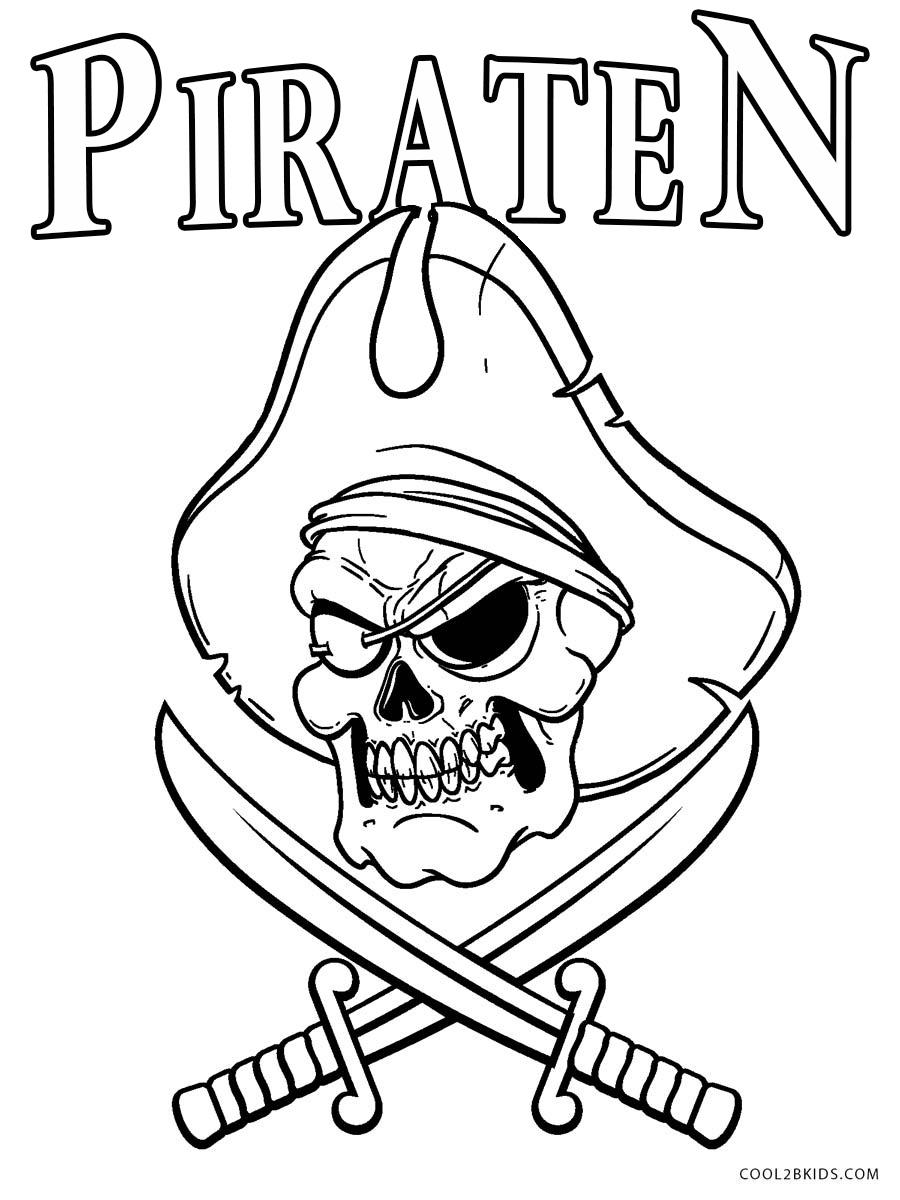 Ausmalbilder Piraten - Malvorlagen kostenlos zum ausdrucken