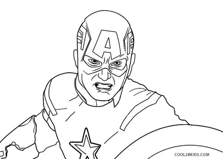 ausmalbilder captain america  malvorlagen kostenlos zum