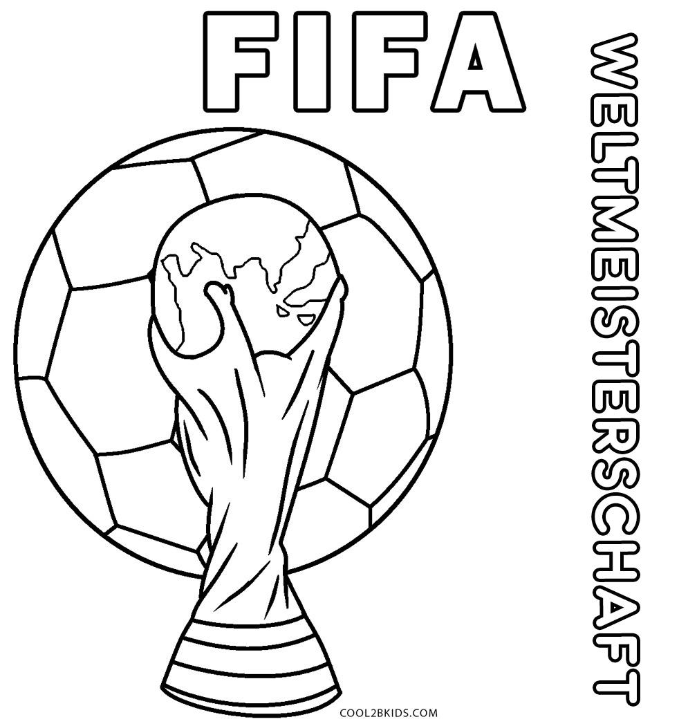 Ausmalbilder Fußball - Malvorlagen kostenlos zum ausdrucken
