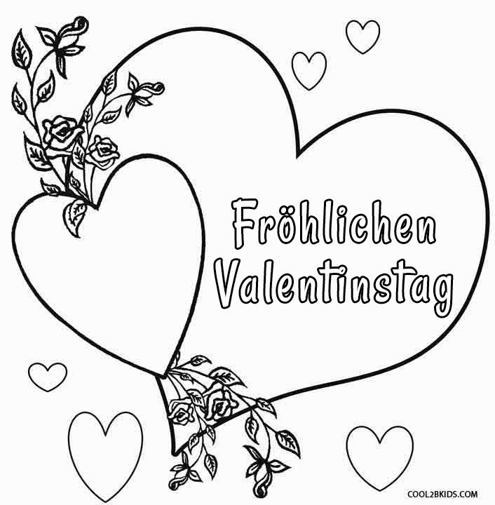 ausmalbilder valentinstag  malvorlagen kostenlos zum