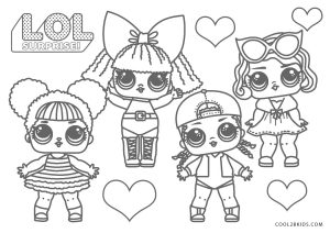free printable lol coloring pages for kids