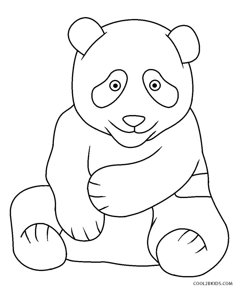 Ausmalbilder Panda - Malvorlagen kostenlos zum ausdrucken
