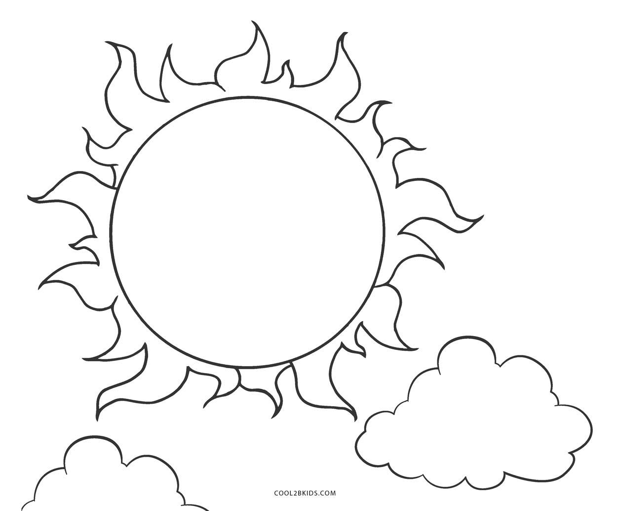 Ausmalbilder Sonne - Malvorlagen kostenlos zum ausdrucken