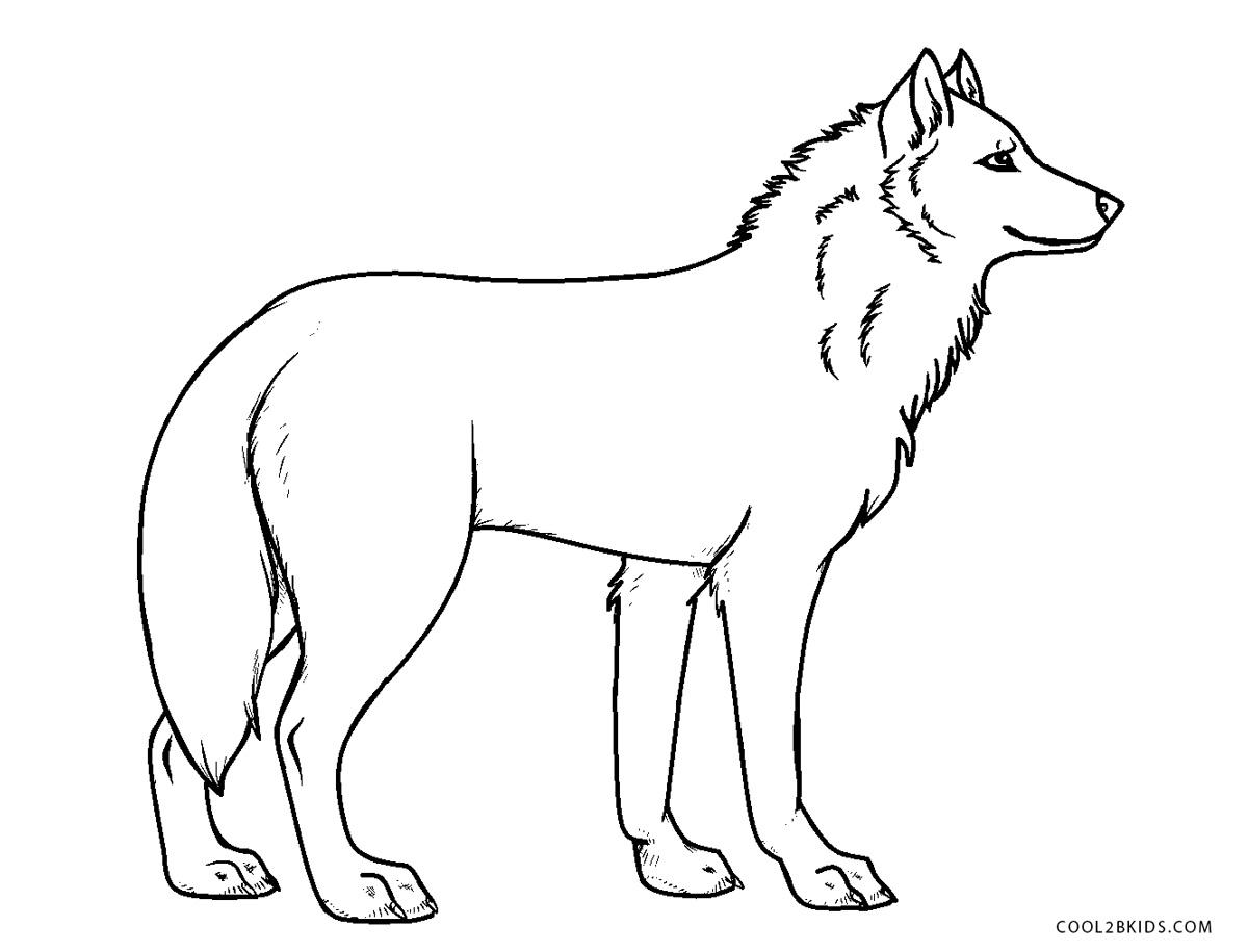 Ausmalbilder Wolf - Malvorlagen kostenlos zum ausdrucken