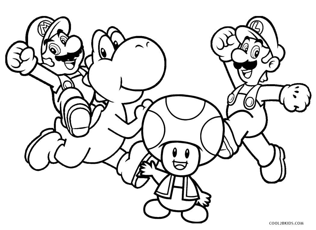 Coloriages   Mario Bros   Coloriages Gratuits à Imprimer