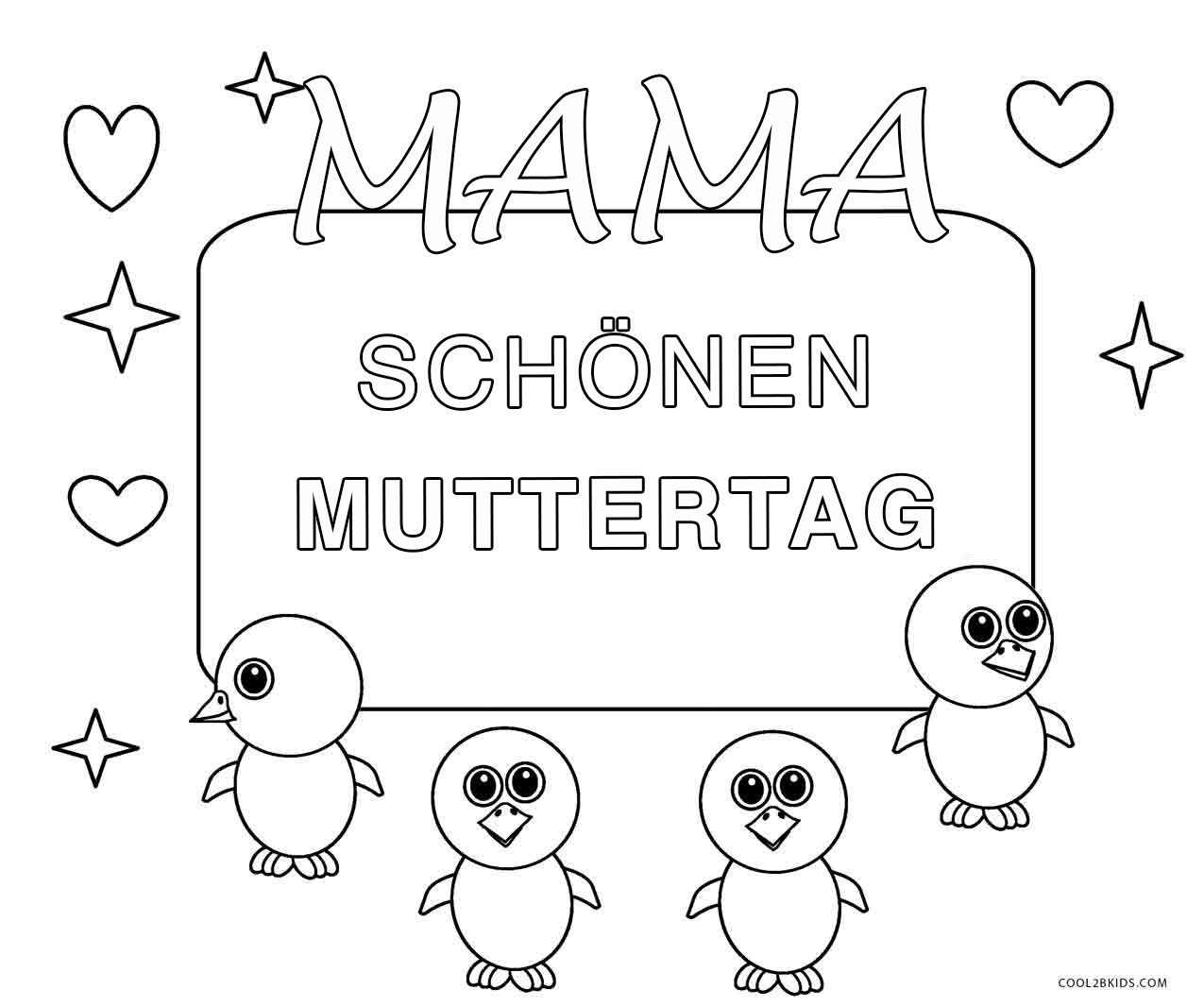 Ausmalbilder Muttertag - Malvorlagen kostenlos zum ausdrucken